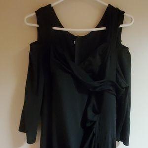 Black cold shoulder formal.